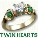 Twin Hearts engagement rings