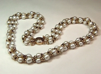 braided potato cultured pearls with rondels