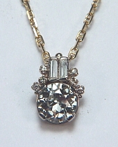 Custom Diamond Cluster Pendant