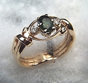 Oval Green Sapphire Ring