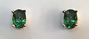 Oval Tsavorite Garnet Earrings