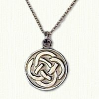Celtic 14KY Round 4 Loop Pendant
