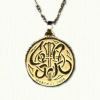 14kt yellow gold Commemorative Wedding Coin Pendant