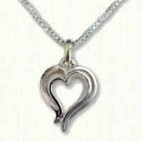 Stylized Double Heart Pendant