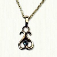 Inverted Heart Pendant with stone