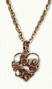Filigree Love Pendant