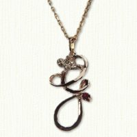 Monogram pendant with angel - letter G
