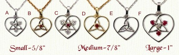 Heart/Inner Triangle Pendants