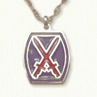 10th Mountain Division Crossed Swords Medallion - enameled