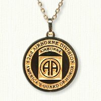 14kt gold 82nd Airborne Medallion (E Size)