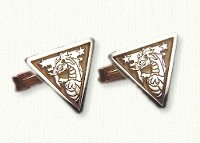 Sterling silver, 18KY electroplated custom military cuff links