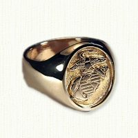 14KY Marine Corps Signet Ring