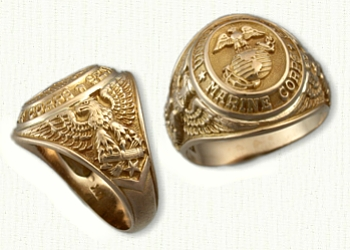 marine corp signet ring originally made from an estate piece sterling silver continuum rr03151 hollow back 109 rr03346 solid 179 - Military Wedding Rings