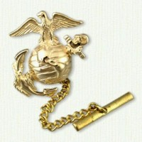 Marine Corps Tie Tack 14kt yellow gold