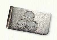 Sterling silver 555th triple nickel money clip