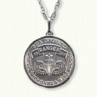Custom Military Coin Pendant in Sterling Silver