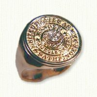 Custom Army Ranger Signet Ring with diamond
