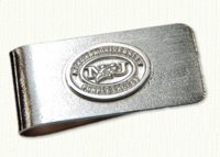 Sterling money clip with raised Niagara University Logo