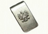 Sterling Silver Polish Eagle Money Clip