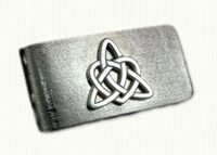 S/S Triangle Heart Money Clip