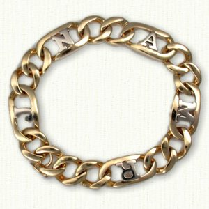 Custom tow tone bracelet