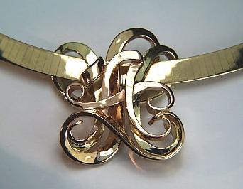 Custom monogram initial slide pendants silver platinum gold tri color 3 initial monogram slide monogram sides aloadofball Images
