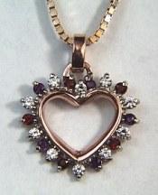 mothers gemstone pendants