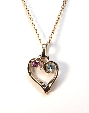Heart Pendant with stones HRT04