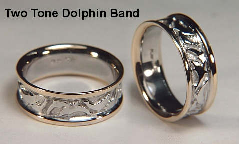 nautical wedding ring - Dolphin Wedding Rings
