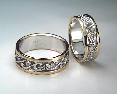 Surf Wedding Rings