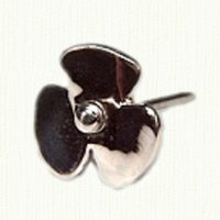 Sterling silver propeller tie tack