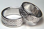 platinum celtic wedding bands