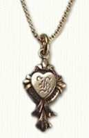 Antique Heart Cross