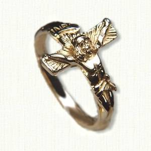 14kt crucifix ring - #R1663