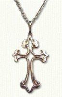 Open Fleur de lis Cross  #CR00092O - 1