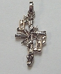 14KT two tone musical cross