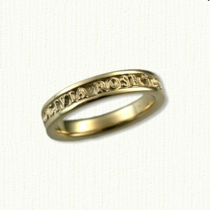 14kt Custom Christening Ring
