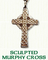 14KY Sculpted Murphy Knot Cross