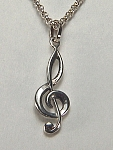 Sterling silver G cleff charm
