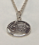 Sterling silver musical staff charm