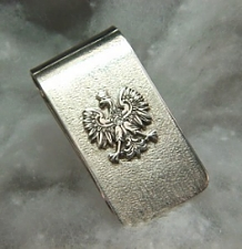 S/S Polish Eagle Money Clip