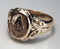 Antique Masonic Signet Ring