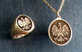 Polish Eagle Ring & Pendant