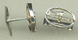 Trombone Cuff Links in Sterling