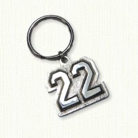 22 Key Ring in Sterling