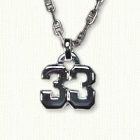 Sterling silver number 33 jersey number