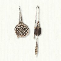 14KY dart earring and dart board earring