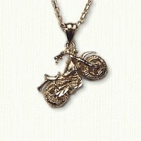 14KY  motorcycle pendant