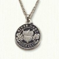 Antiqued sterling silver Custom golf club charm