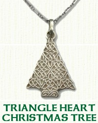 Celtic Christmas Tree Pendant